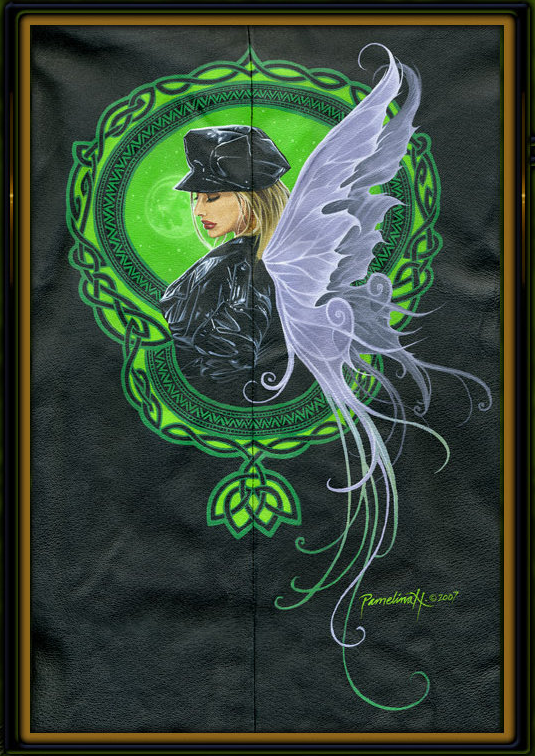 Bad-Ass Faeries Custom Painted Leather Jacket by Pamelina H.